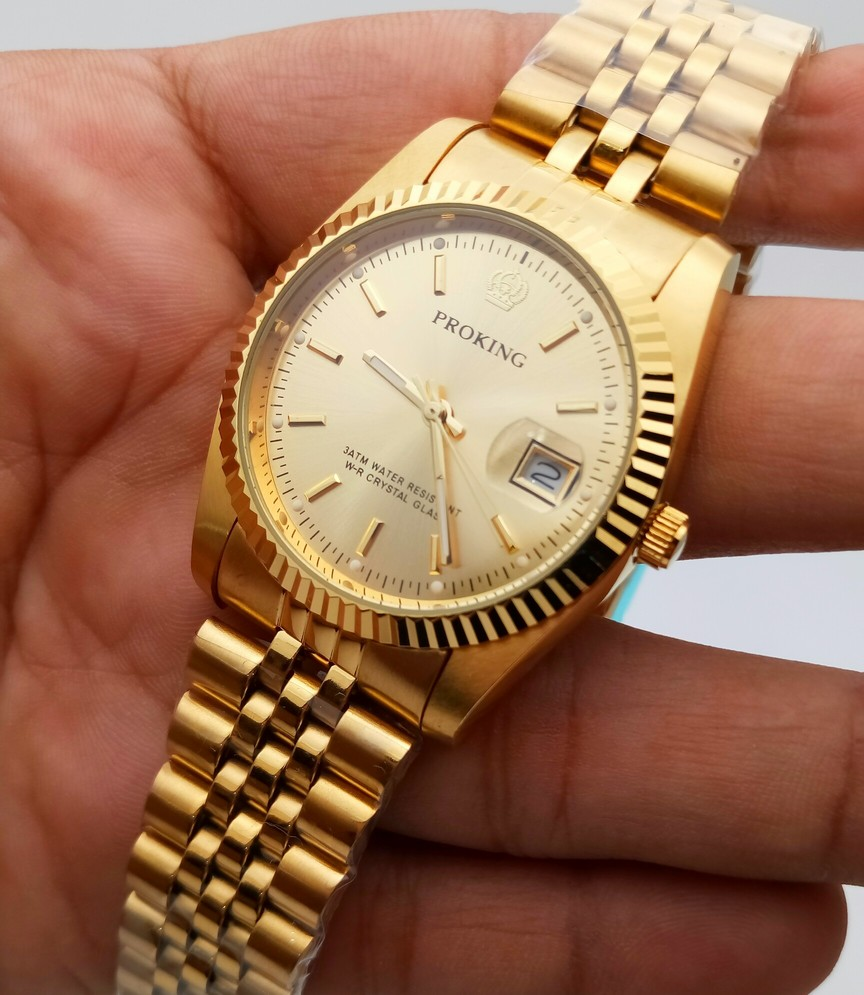 6a92750cbc439 ProKing C4 Just Date Gold - WatchMarkaz.pk - Watches in Pakistan ...