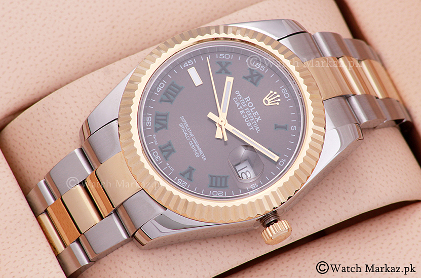 Rolex Date Just Two Tone