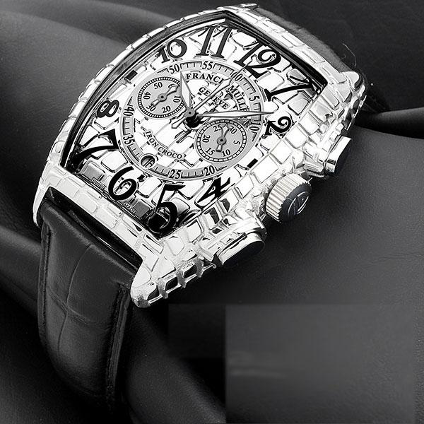 Franck Muller Gold Croco Chrono Watch